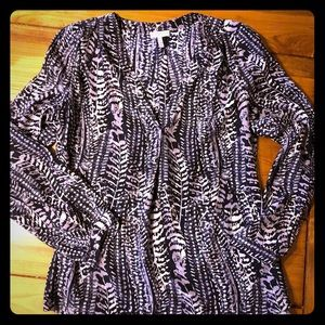 JOIE black and white printed silk blouse size S